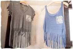 fringe shirts DIY summer