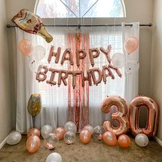 30th Birthday Party For Her, Happy Birthday Ballons, Birthday Surprise For Husband, 30th Birthday Themes, 30th Birthday Cake Topper, Happy 30th Birthday, Birthday Backdrop, Birthday Party Decorations For Adults, Photos