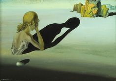 Salvador Dalí (Spanish, 1904-1989). Remorse or Sphinx Embedded in the Sand
