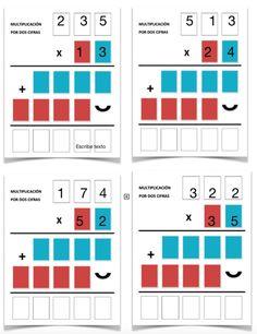 Math Division Worksheets, Math Coloring Worksheets, Printable Math Worksheets, Fraction Activities, Spanish Language, Fractions, Study Tips, Teaching Math, Mathematics