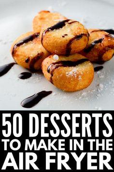 New Air Fryer Recipes, Air Fryer Recipes Dessert, Air Frier Recipes, Healthy Vegan Desserts, Easy Desserts, Recipes Using Crescent Rolls, Actifry Recipes, Peanut Recipes, Easy Meals