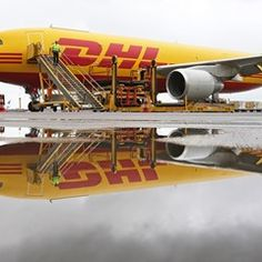 DHL unveil their expansion with a new aircraft at the Leipzig-Halle Airport, Germany