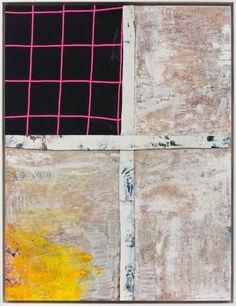 Hot Flat Light Sterling Ruby acrylic oil elastic and cardboard on canvas 2017