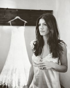jared padalecki genevieve cortese wedding : bride getting ready , dress , wintage