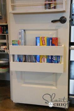 Pantry door storage!