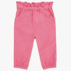 BuyJohn Lewis Baby House Woven Trousers, Pink, 0-3 months Online at johnlewis.com