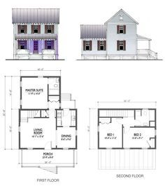 Tiny House Floor Plans 2 Bedroom four gables - | southern living house plans | 3 bedroom homes