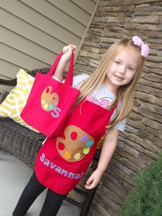 Children's Art Party Favor Apron by SavyJax on Etsy, $15.00