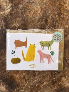 The postcard is printed on high quality recycled paper. Size: 105 x 148 mm Comes with a recycled kraft envelope. Yellow Cat, Kidsroom, Worlds Of Fun, Crocodile, Swan, Upcycle, Moose Art, Recycling, Stationery