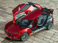 #Ford EVOS concept car... check out the rest of the pics, this thing looks like a LEGIT spaceship. #future