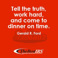 Are you making it to dinner on time? Words of wisdom from former President Ford. #WednesdayWisdom #WisdomWednesday #careeradvice #workhard