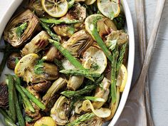 To get a head start, prepare the recipe through step 2 up to two days in advance. Shortly before serving, place asparagus on pan with...