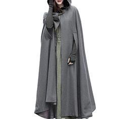 OIKAY Cape Cloak M/äntel Damen Strickjacke Jacke Trench Open Front Coat Poncho Plus Sweatshirt