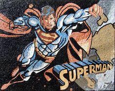 Superman Mosaic Art For Sale - Custom mosaics