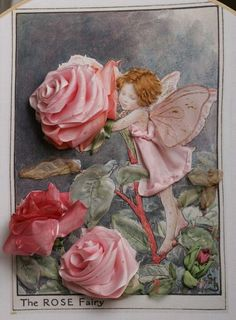 I ❤ ribbonwork . . . The Rose Fairy, 2008- Embroidered by Emma Kriegler.