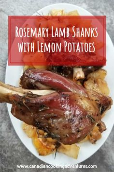 These tender Rosemary Lamb Shanks are served alongside some Lemon Potatoes. It is super simple to make as everything is cooked together in the oven all at once. #rosemary #lamb #shanks #leg #lemon #potatoes #easter #dinner #recipe #recipes #keto #greek Best Keto Meals, Best Italian Recipes, Best Gluten Free Recipes, French Recipes, Whole30 Recipes, Indian Food Recipes, Asian Recipes, Mexican Food Recipes, Low Carb Recipes