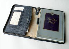 The Name is Bond....Basildon Bond! Vintage Desk Office Basildon Bond Blue Leather Writing Case Set Circa 1950s Paper Envelopes 57 58 Calendars #FollowVintage