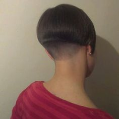 short with shaved nape