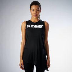 Gymshark Side Tie Vest - Black at Gymshark EUR