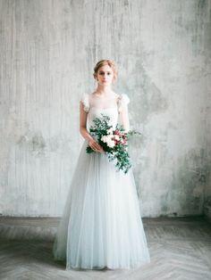 Aquamarine Tulle Bridal Skirt - Wedding Gown - Bridal Style