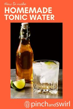If you've ever wondered how to make Homemade Tonic Water, this is the BEST recipe. It's tried and true, made hundreds of times all over the world. Cheap Mixed Drinks, Vodka Mixed Drinks, Vodka Drinks, Easy Cocktails, Cocktail Recipes, Easy Summer Meals, Healthy Summer Recipes, Tonic Water, Gin And Tonic