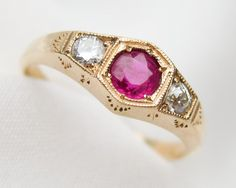 Antique Engagement Rings, Vintage Wedding Rings, and Sentimental Gifts Ruby Diamond Rings, Diamond Wedding Rings, Wedding Rings Vintage, Antique Engagement Rings, Ruby Stone, Sentimental Gifts, Antique Jewelry, Jewlery, Gemstone Rings
