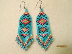 Turquoise Native American seed bead brick by EagleplumeCreations