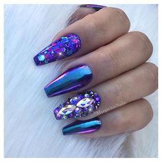 Mermaid nails • • • • #nails#chromenails#coffinnails#nailart#MargaritasNailz#vetrogel#nailfashion#naildesign#nailswag#glitternails#glamnails#nailedit#nailcandy#ombrenails#nailsofinstagram#nailaddict#instagramnails#nailsoftheday#nailporn#naildesigns#springnails#modernsalon#nailartist#nailsonfleek#dopenails#unicornnails#glitterombre#silverglitter#mermaidnails#purplenails #nails #nailart #naildesigns