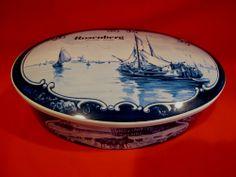 Vintage DUTCH Chocolates Tin Rosenberg Amsterdam Holland Windmill SHIP