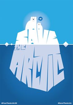 Save the Arctic by Francesco Poroli for Greenpeace. One of 30 works by Italian artists inspired by what happened to the Arctic 30 activists and the fate of the Arctic. #FreeTheArctic30, #SaveTheArctic