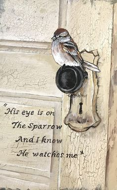 His Eye is on the Sparrow Bible Verse Art, Bible Verses Quotes, Bible Scriptures, Bibel Journal, Happy Sunday Quotes, Favorite Bible Verses, Spiritual Inspiration, Word Of God, Inspirational Quotes