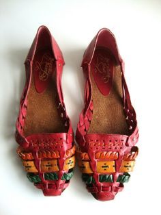 96d2aa17747f Items similar to Vintage Woven LEATHER Huarache Sandal from Pudding on Etsy