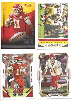 Alex Smith Kansas City Chiefs (4) Card Football Lot - (1) *** This is an Amazon Affiliate link. Want additional info? Click on the image.