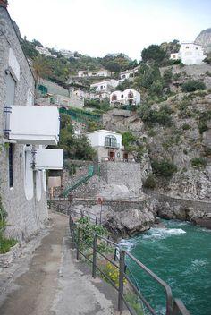 Praiano's Pretty Little Cove of a Beach, Amalfi Coast, Italy