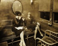Smoking on the train, 1920s                                                                                                                                                                                 More