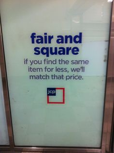JCpenney, clear, simple message, it's all about transparency