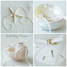 shell ring pillows