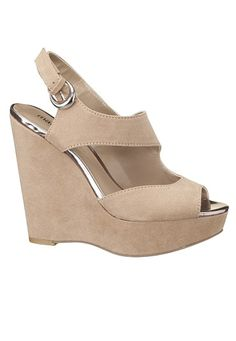 Faye Faux Suede Wedge Sandal available at #Maurices