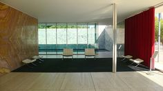 Barcelona Pavilion. Rebuilt in Barcelona, Spain. Originally built for the World Fair of 1929. Ludwig Mies van der Rohe