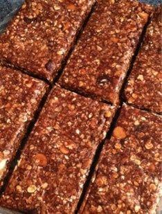 No-Bake German Chocolate Protein Bars