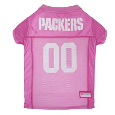 Green Bay Packers Pets First Pink Pet Football Jersey - Pink M 68cb65f25