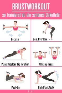 Wenn es um Sportprogramme geht, hört man als erstes von Po- oder Bauchworkouts. Dabei ist das Dekolleté mindestens genauso wichtig für die perfekte Bikinifigur. Vor allem kommt es auf eine gerade Haltung an, die die Brust ideal in Szene rückt. #brüste #boobs #workout #fitness