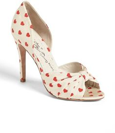 Alice + Olivia Gigi Pump heart   #shoes www.finditforweddings.com (NICE FOR VALENTINE'S DAY 2014)