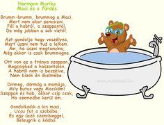 Hermann Marika: Maci és a fürdés című gyermek verse
