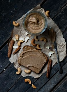 I added this for the idea. I would omit the extra oil. AT the gouda life - Breakfast Companions [Cinnamon-Espresso Cashew Butter] Tasty, Yummy Food, Healthy Food, Healthy Recipes, Cashew Butter, Butter Recipe, Breakfast Recipes, Sweet Tooth, Food Photography