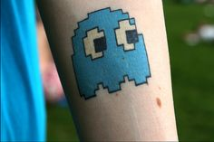 'Ghosts' main enemy from Pacman. Video Game Tattoo.