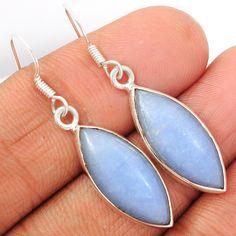 Angelite 925 Sterling Silver Earrings Jewelry ANGE125