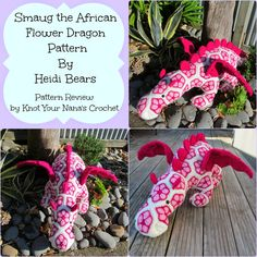 Knot Your Nana's Crochet: Smaug the African Flower Dragon Pattern Review