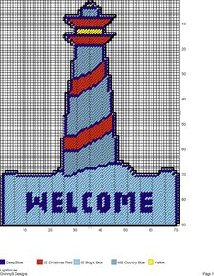 LIGHTHOUSE WELCOME by GrannyS Designs