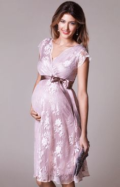 Eden Maternity Gown Short Blush - Maternity Wedding Dresses, Evening Wear and Party Clothes by Tiffany Rose Maternity Dresses Summer, Maternity Gowns, Stylish Maternity, Maternity Fashion, Modest Fashion, Girl Fashion, Fashion Outfits, Maternity Wedding, Tiffany Rose